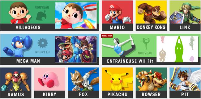 Personnages jouables de Smash Bros.