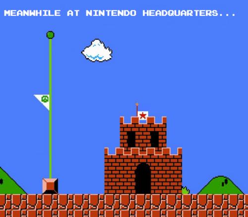 Nintendo Drapeau en berne