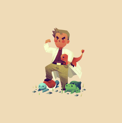 Pokémon par Olly Moss