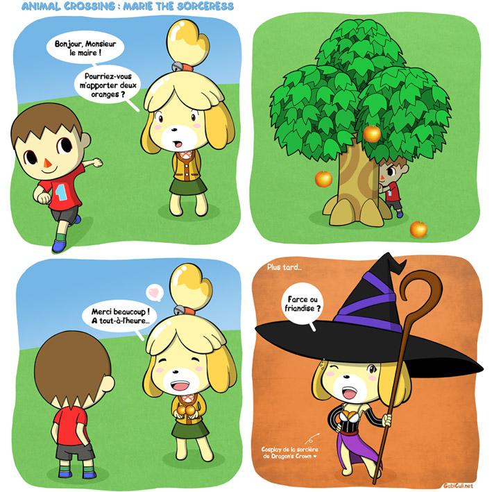 Yonkoma Halloween - Animal-Crossing : Marie The Sorceress