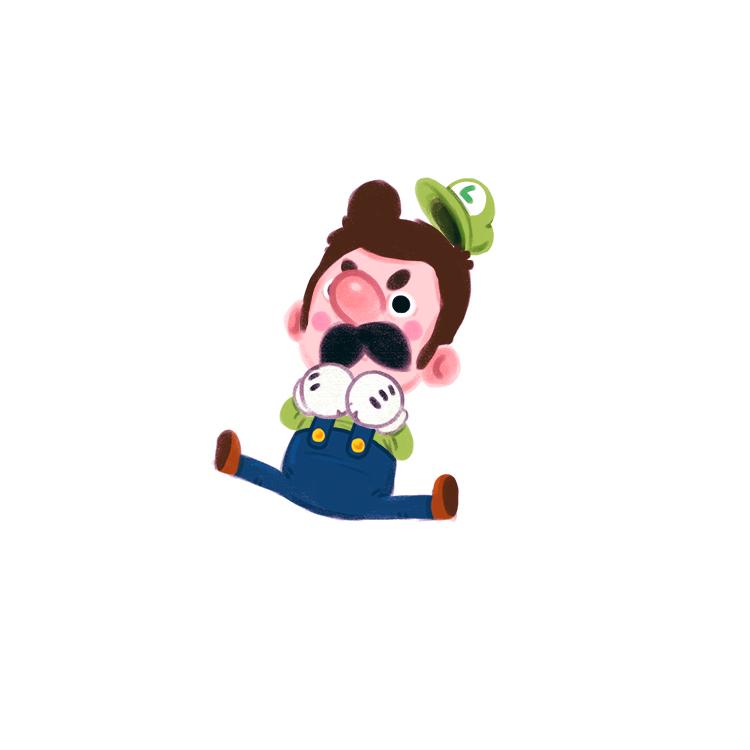 « Luigi joins the battle! » par Paperbeatsscissors