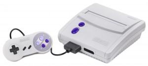 Le modèle redessiné de la Super NES pour l'Amérique du Nord.
