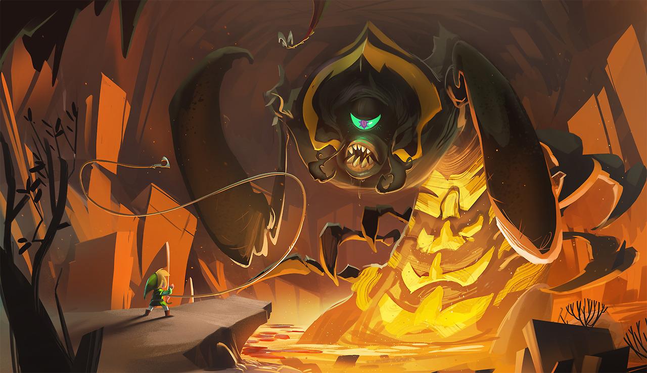 Link vs Gohma par Vincent Bisshop