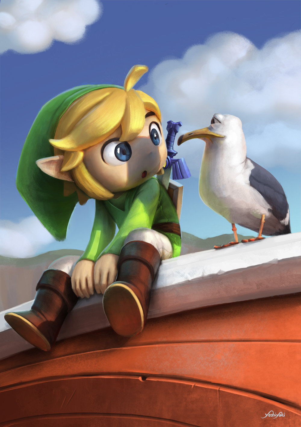 Toon Link par Cassio Yoshiyaki