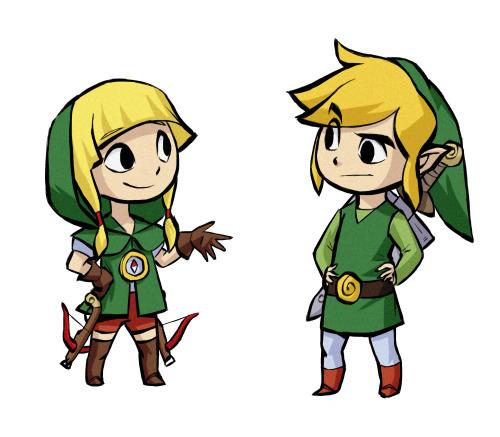 Linkle et Link façonThe Legend of Zelda : The Wind Waker